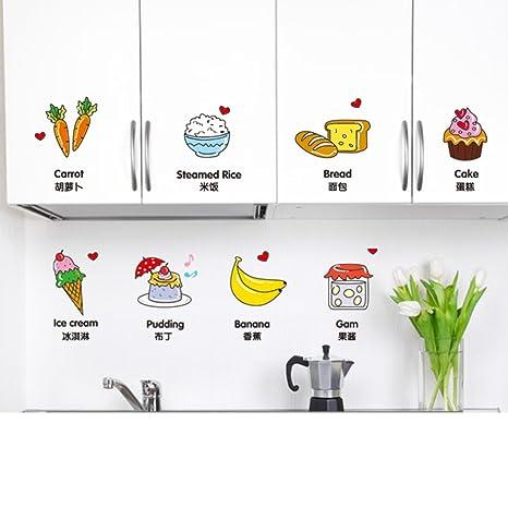 SS&LL Etiqueta De La Pared De Dibujos Animados Alimentos,Cocina ...