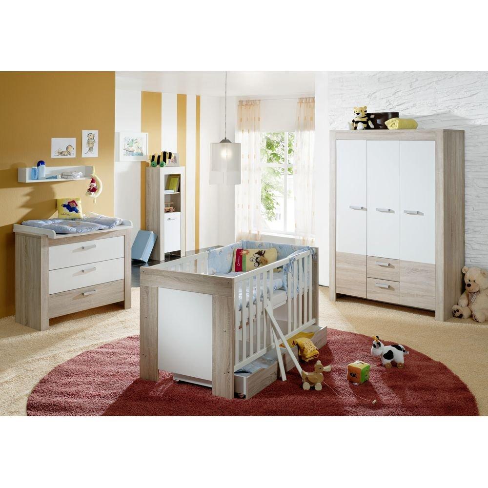 iovivo Babyzimmer Elia, 4-teilig Eiche sägerau/weiß matt