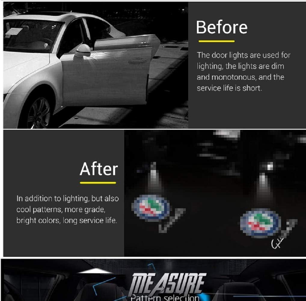 Auto-T/ür-Lights-2Pcs Willkommens-Licht-Projektor-Lampen-Geist-Schatten Led Logo Light gina Color : PatternE