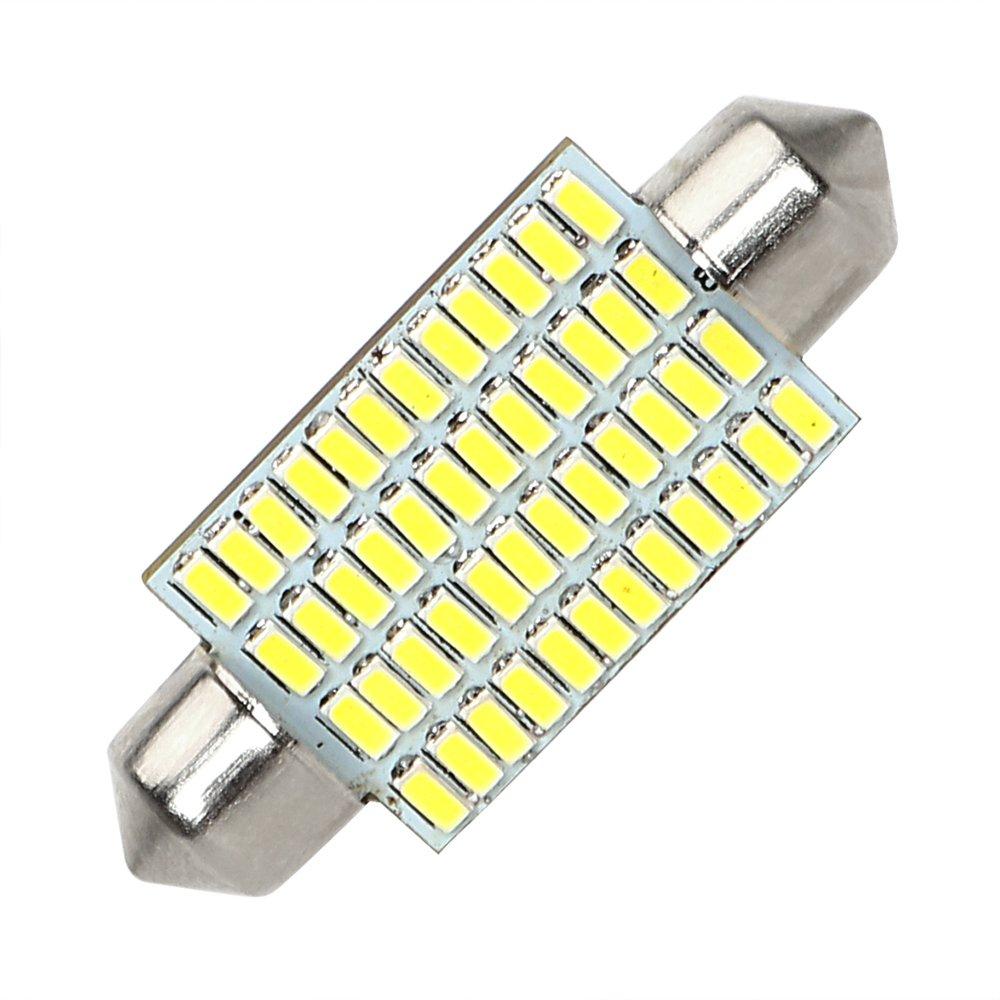 Voiture Int/érieur d/ôme lumi/ère Festoon C5/W 41/mm LED Blanc Voiture Dome Lampe DC 12/V