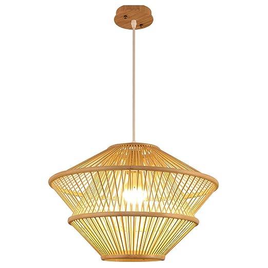 Lámpara Colgante De Bambú, Lámpara Colgante Creativa con Forma De ...