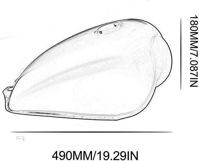 Argent camellia R/éservoir dessence Universel Haute Performance en Fer caf/é Bobber pour Suzuki GN125 GN250 GN Facile /à Installer