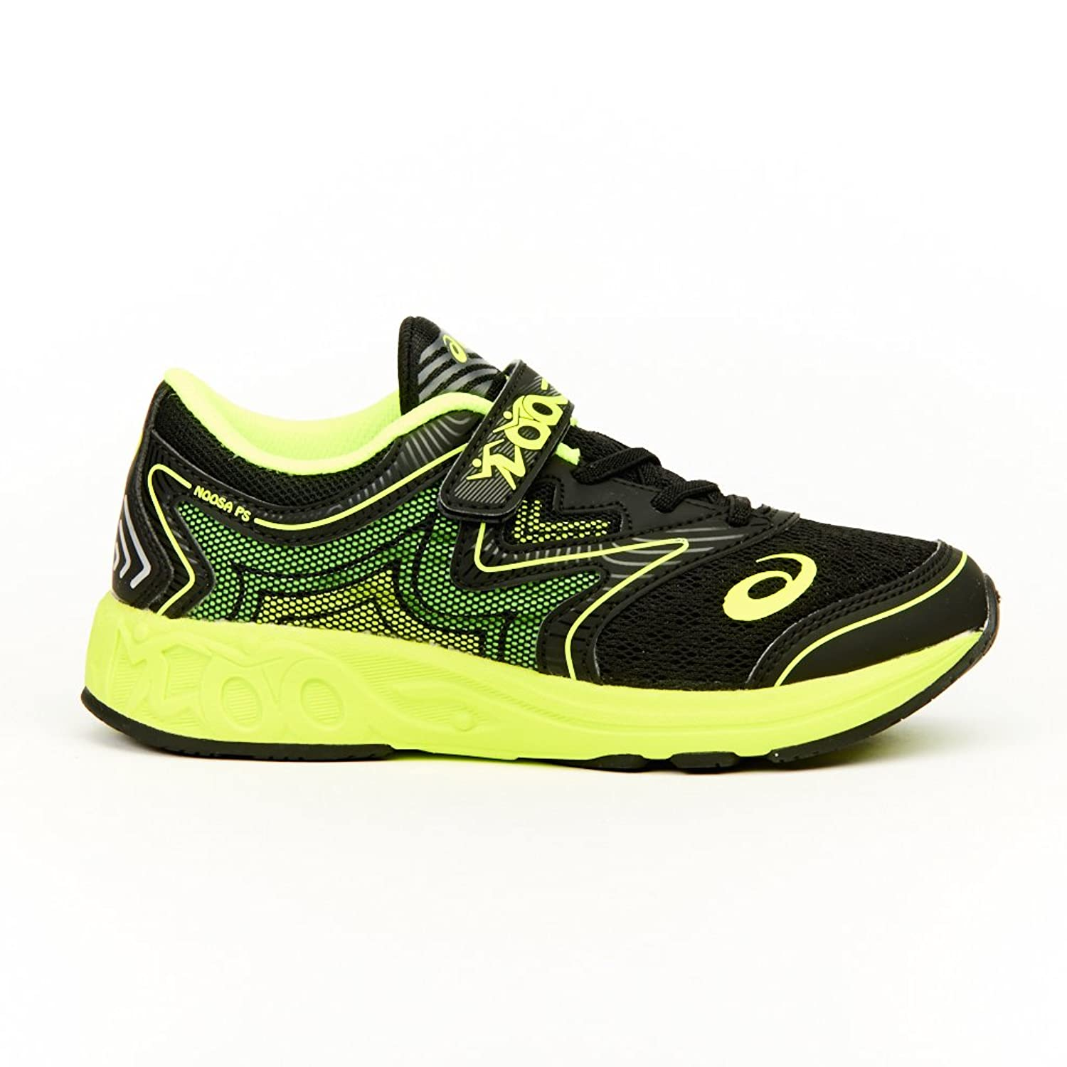 SNEAKERS ASICS GEL noosa PS gel NYLON NERO VERDE FLUO