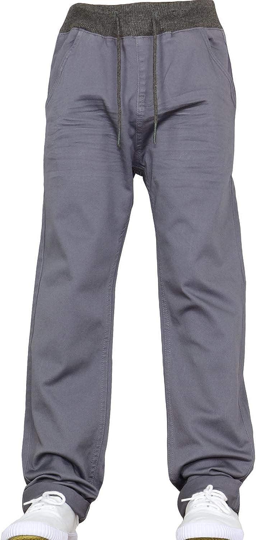 Nipper Boys Club Nouveaux gar/çons Enfants Designer Marque Pull-on Taille /élastique Pantalon Jeans Jogger