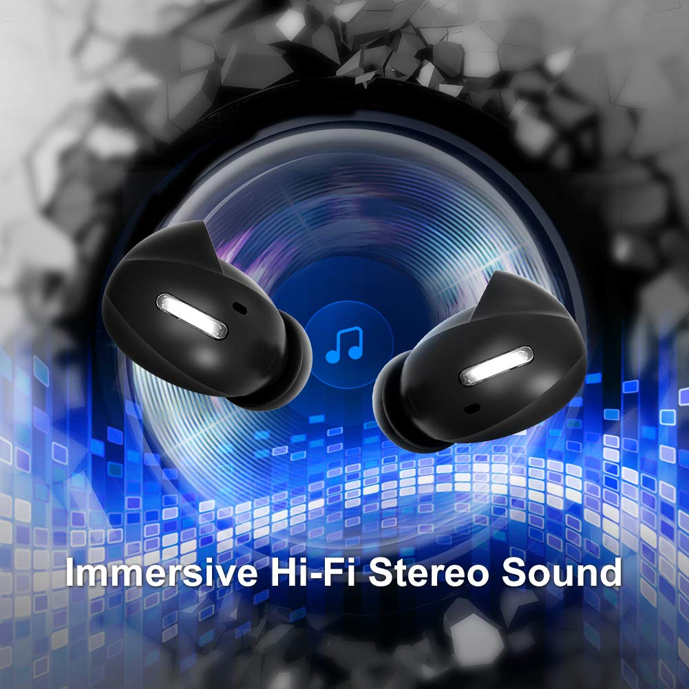 Updated Version Wireless Earbuds Bluetooth Headphones Alterola Bluetooth 5.0 Earphones Noise Cancelling Stereo Hi-Fi Sound with Deep Bass Waterproof AUTO Stable Pairing with 36H Charging Case