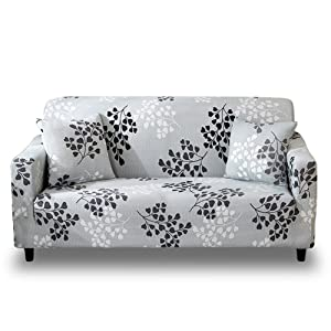 HOTNIU Stretch Sofa Slipcover 1-Piece Polyester Spandex Fabric Couch Cover Chair Loveseat Furniture Protector Covers 1/2/3/4/ Seat Sofas (Sofa, Printed #3)
