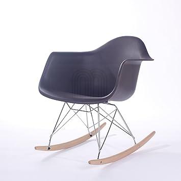 vita interiors charles eames style rar rocking chair black amazon