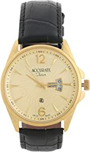 Accurate Casual Watch Analog for Men, Leather, AMQ1692L
