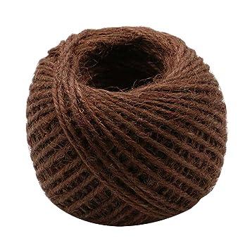 cuerda de camo de color natural cuerda de yute retorcido cuerda tejida a mano caf - Cuerda De Caamo