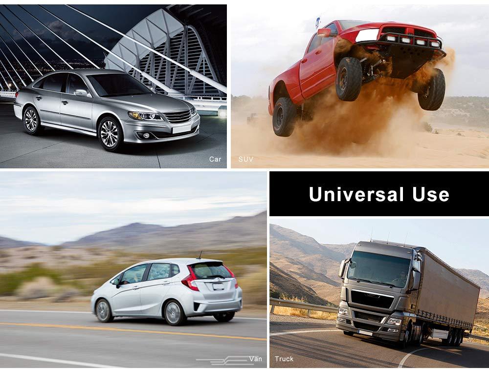 accessoires automobiles int/érieur noir Si/ège de voiture en cuir universel universel couvre lensemble des protections de si/ège avant et arri/ère