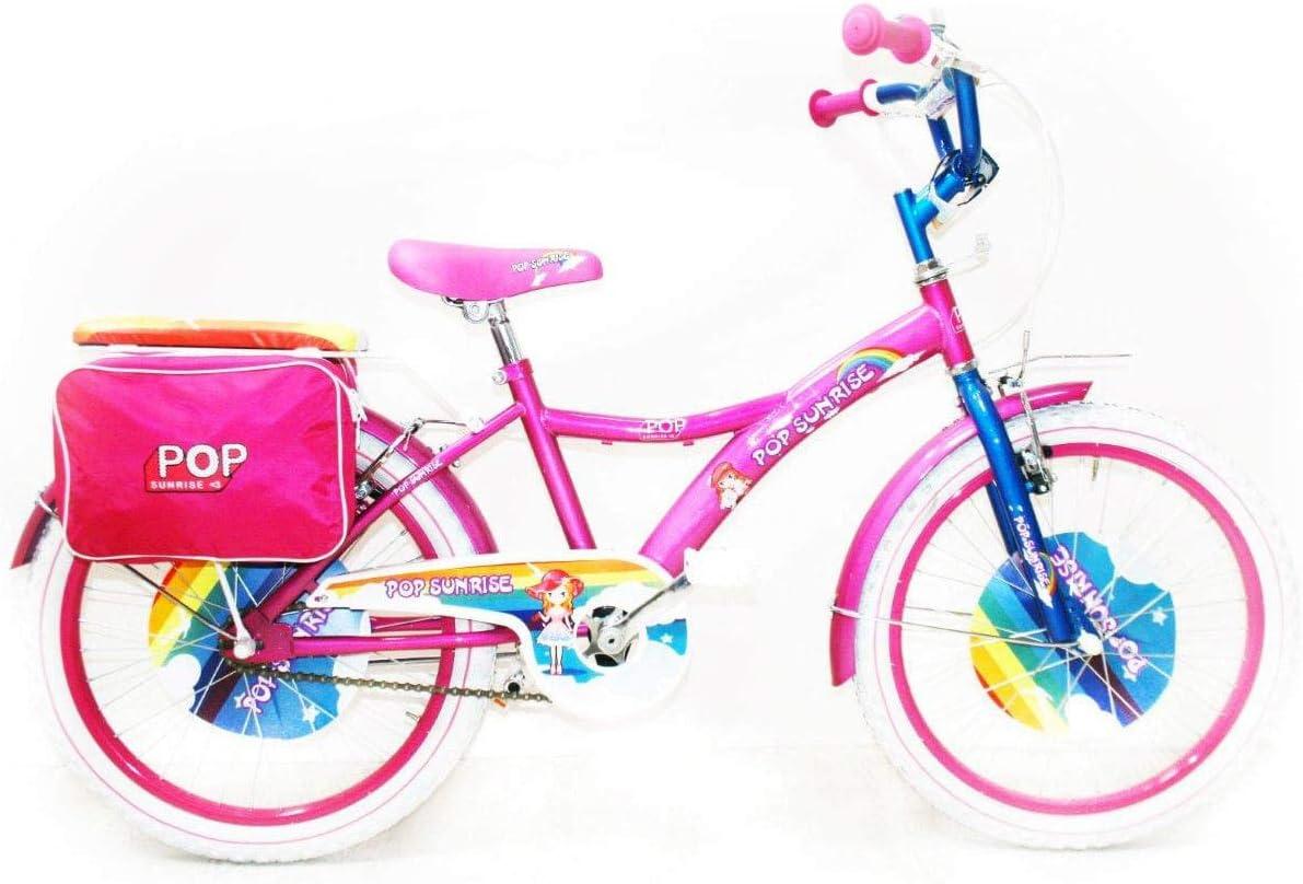 Reset - Bicicleta para niña, 20 Pulgadas, Pop Sunrise, Rosa y Blanco: Amazon.es: Deportes y aire libre