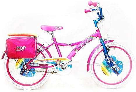 Reset - Bicicleta para niña, 20 Pulgadas, Pop Sunrise, Rosa y Blanco