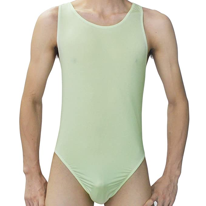d18663131b iiniim Herren Body Bodysuit Unterhemd Stringbody Overall Unterwäsche  Lingerie Nachtwäsche Grün Einheitsgröße