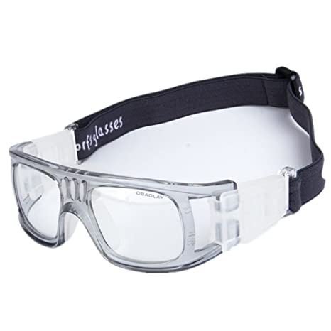 9b5d6988a284 Wonzone Men s Sport Glasses Anti-fog Protective Safety Goggles with  Adjustable Strap for Basketball Football