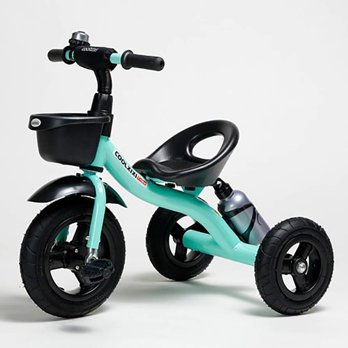 Triciclo Bebe Evolutivo para Niños de 2-6 Años, Trike Bicicleta Plegable con Ruedas de Gomas y Conducción Silenciosa (Tamaño del Cuerpo 90-120CM),Blue