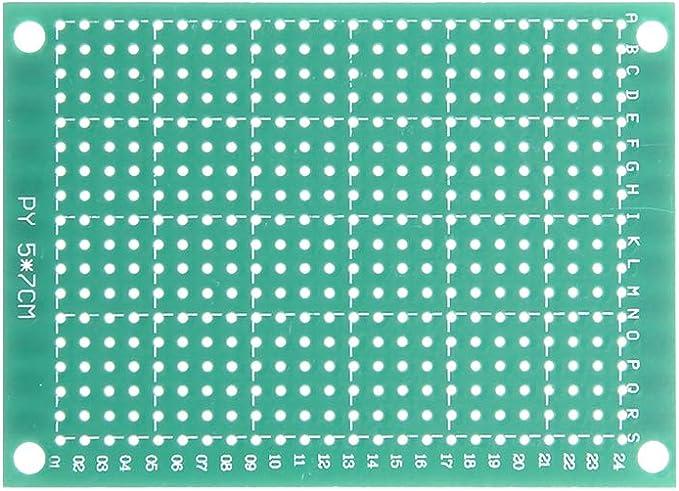 sourcing map 5x7cm universel simple face circuit imprim/é souder bricolage 15pcs