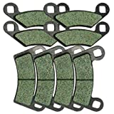 Front and Rear Kevlar Carbon Brake Pads for Polaris 800 Ranger RZR EFI Razor 2009 2010 2011 2012 2013