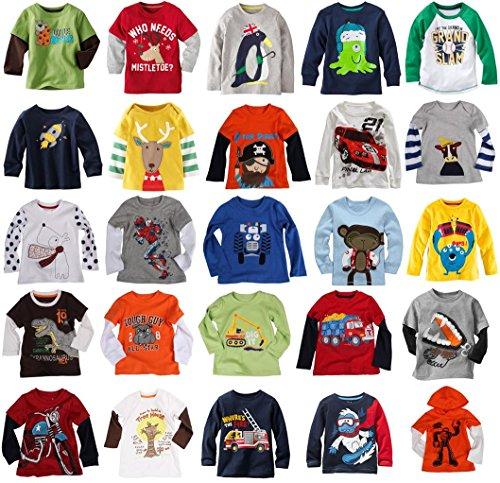 Mammybaby Baby Boy/Toddler/Kids Long Sleeve T-Shirts(2-6 Years)