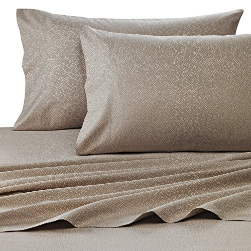 400 Thread Count Luxurious 100% Egyptian Cotton Sheet Set of 4 Pcs Short Queen Size 60x75 (1 Fitted sheet,1 Flat Sheet, 2 Pillows covers) for Camper/RV by Rajlinen (Dot Printed Grey)