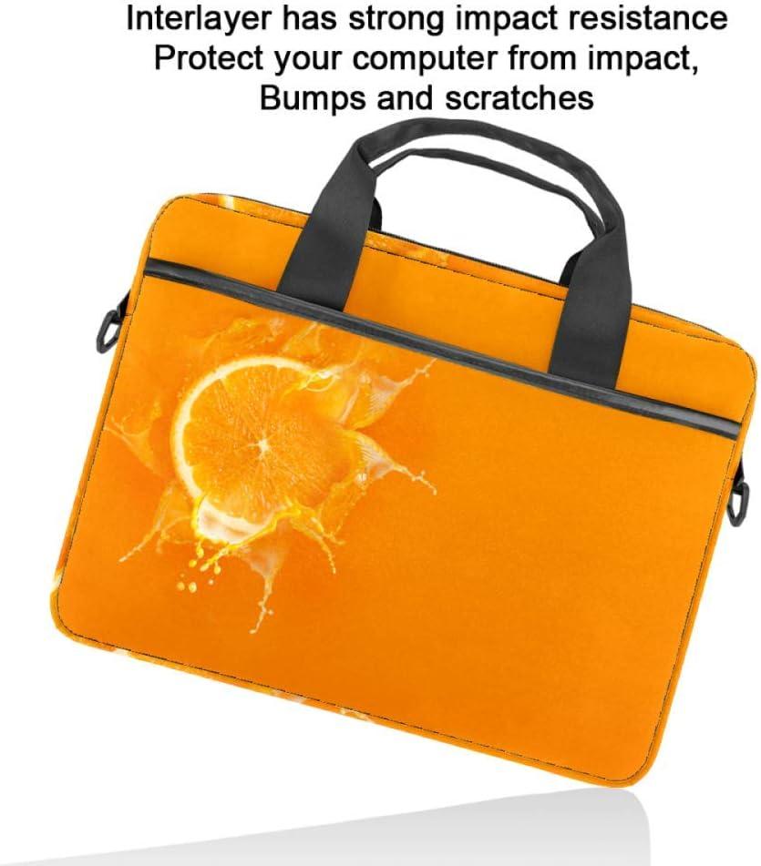 Bandolera para ordenador port/átil para hombre y mujer dise/ño de frutas naranja de 15 pulgadas