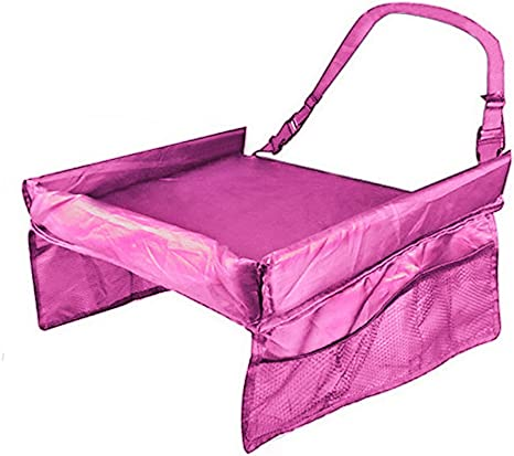 Bandeja de juego de cartas de mesa mesa de seguridad bebé asiento de coche para niño jugar bandeja de viaje tablero de dibujo rosa rosa: Amazon.es: Bebé