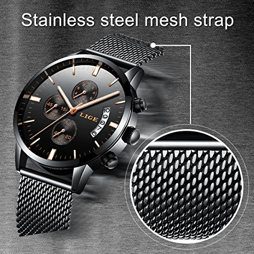 69c3d07208 Watch Men Casual Stylish Stainless Steel Watch with Milanese - Import It All