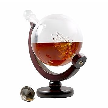 Decantador de Whisky para bebidas alcohólicas o vino – diseño de escamas, globo de cristal
