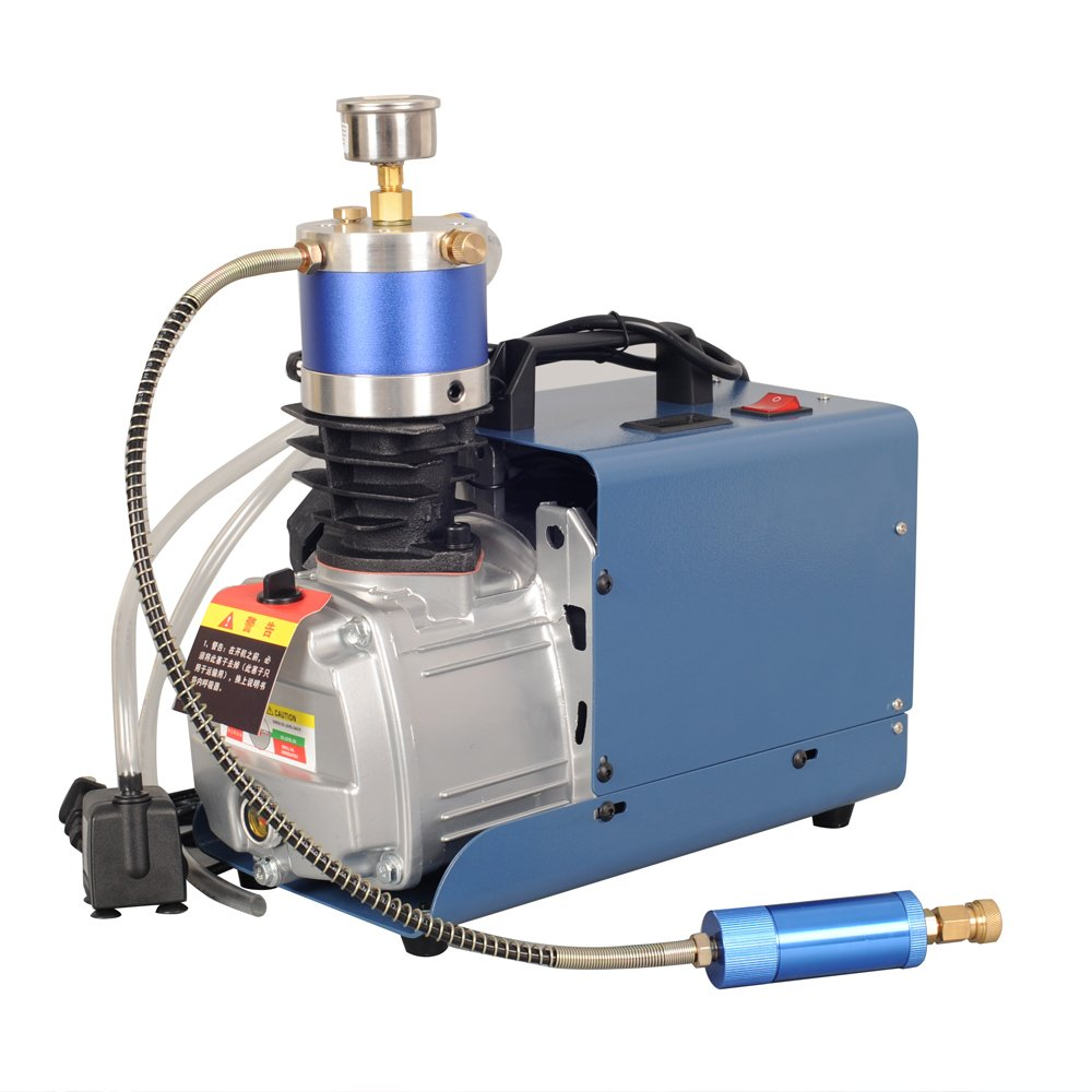 Lolicute 110V 30MPa 4500PSI Air Compressor Pump PCP Electric High Pressure Auto Shutdown