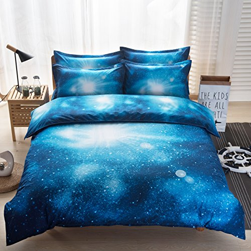 3D Mysterious Boundless Galaxy Colorful Outer Space Bedding