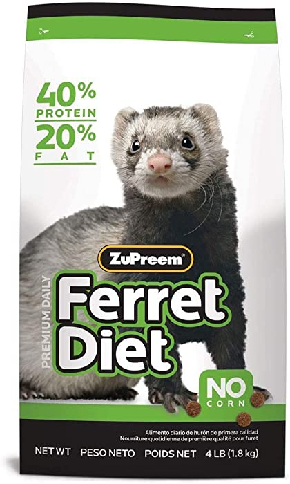 ZuPreem Premium Daily Ferret Diet Food, 4 lb or 8 lb Bag - Nutrient Dense, Real Chicken and Egg Protein, Highly Digestible, No Corn