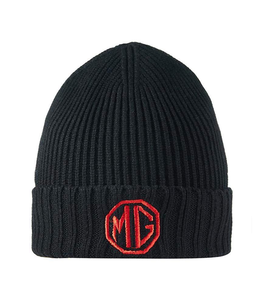 MG Motor Official Rib Knit Beanie Woolly Hat Orange//Black