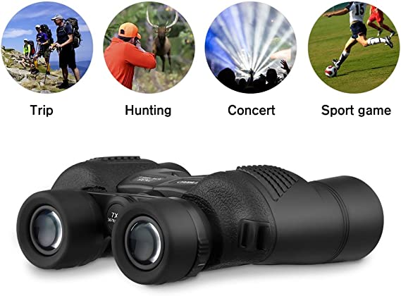 Small Binoculars for Concerts and Sports Games Travel Bird Watching Anchorfield 10x25 Compact Binoculars for Adults and Kids Hunting