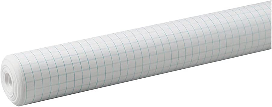 White 34/&Quot; By 200/' Pacon 0.5-Inch Grid Paper Roll 77800
