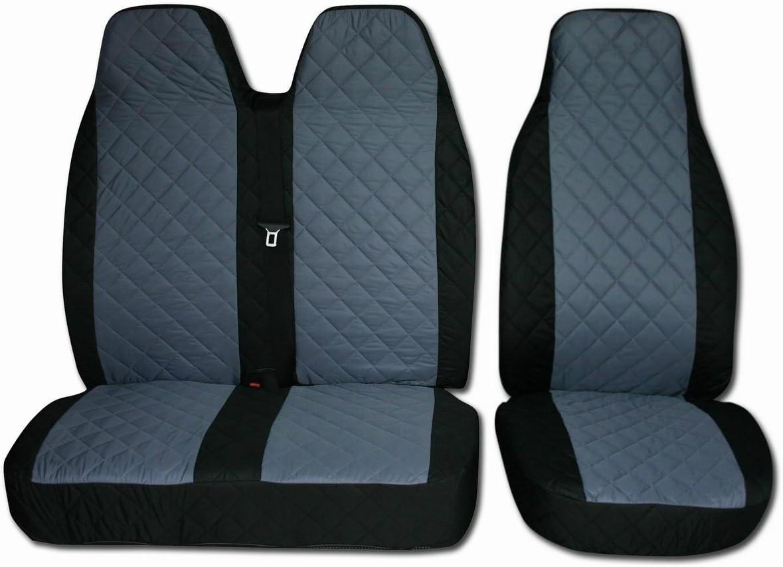 2Stk Sitzbezüge Schonbezüge CITROEN Jumpy COMFORT GRAU