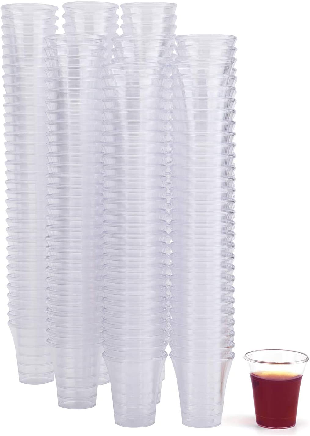 Bekith 1000 Pack Communion Cups, Plastic Disposable cup Fits Standard Holy Communion Trays, 0.5 Ounce, Clear