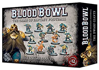 Blood Bowl the Game of Fantasy Football - The Dwarf Giants Team (12 Miniatures) from Games Workshop
