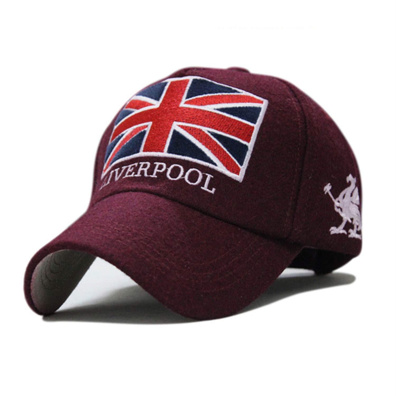 Liverpool Warm Felt Hat Unisex Gorras Baseball Cap Snap Backs with England Flag for Autumn Winter Black at Amazon Womens Clothing store: