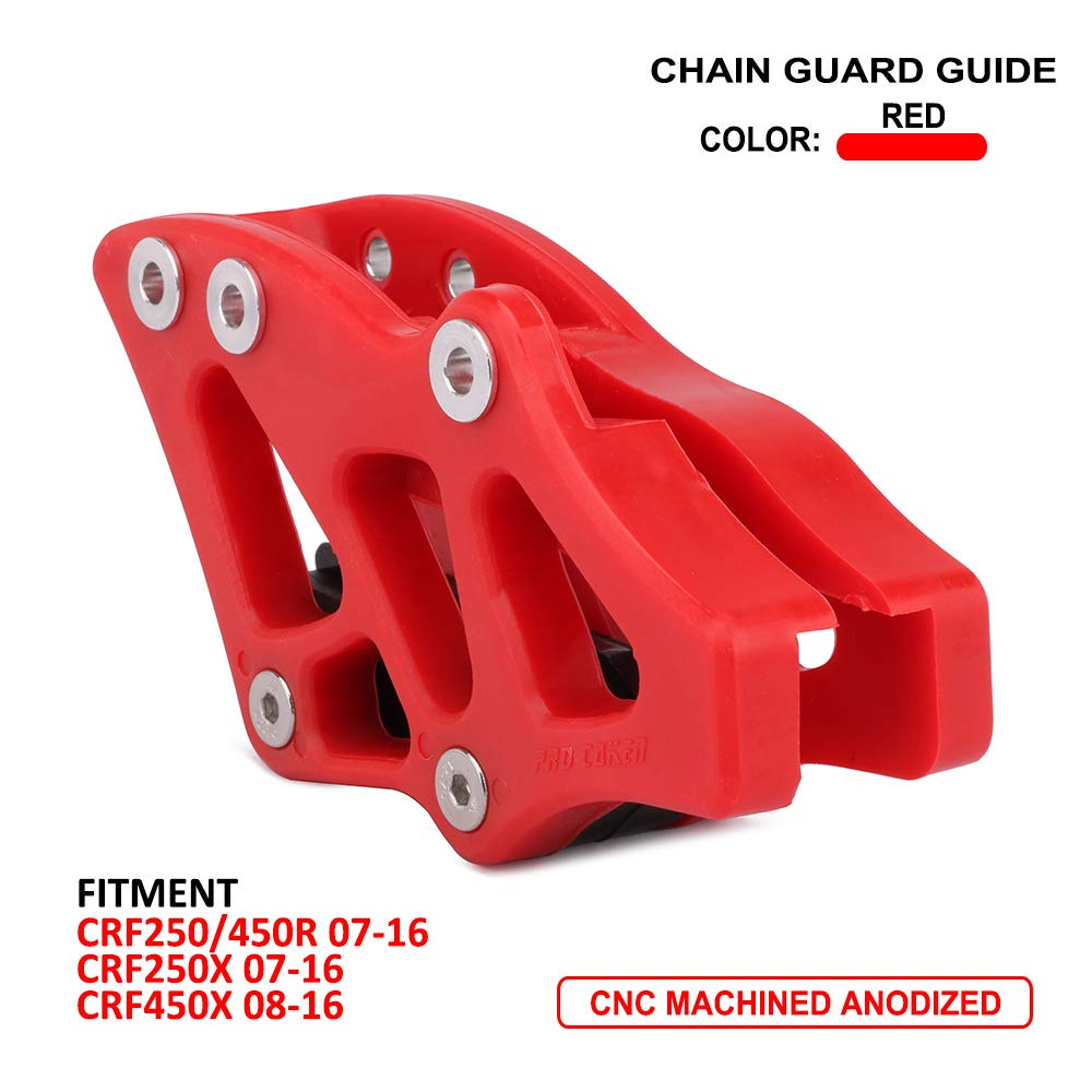 JFG RACING Red Plastic Chain Guide Guard Sprocket Protector Slider For Honda CRF250R CRF250X