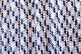 BoredParacord Brand Paracord/Parachute Cord 7-Strand, 550 Lb. Break Strength Guaranteed U.S. Made, Type III - Arctic Digital Camo (50 feet)