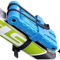 Tofern Antivol Pliable Résistance à Effraction Revêtement ABS Support Porte-bidons Robuste Résistant Cadenas à Clé VTT Vélo Route Vélo Pliant Fixie VTC Moto Scooter