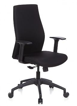 Hjh OFFICE 710100 Chaise De Bureau A Roulettes SKAVE 100 Noir Siege