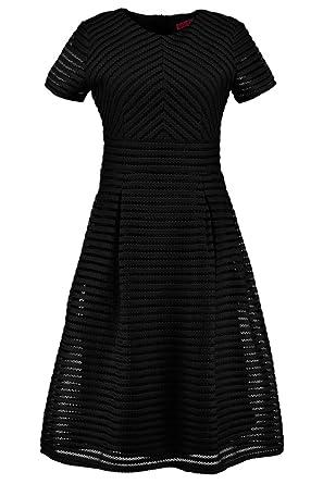 Boohoo Womens Zaira Boutique Full Skirted Prom Midi Dress in Black size 2
