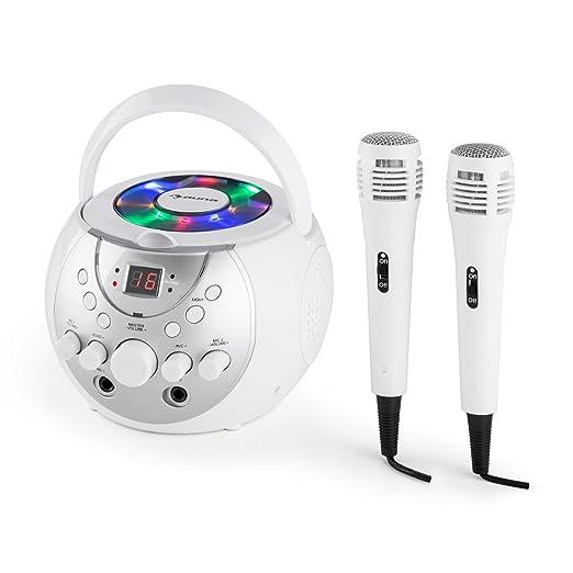 7 opinioni per auna SingSing Impianto Karaoke portatile per bambini (lettore CD, 2 microfoni,