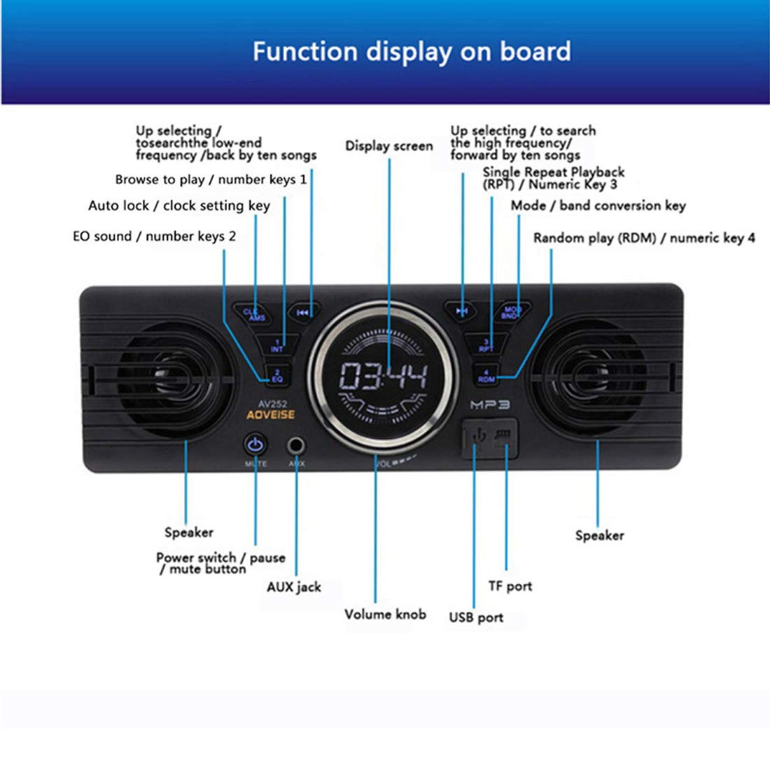 VIGORFLYRUN PARTS LTD Autoradio 7 Zoll 2 Din Bluetooth mit R/ückfahrkamera Touch Screen Mirrorlink Auto Radio Audio MP5 MP4-Media-Player Unterst/ützung Aux Input//SD//USB Freisprecheinrichtung