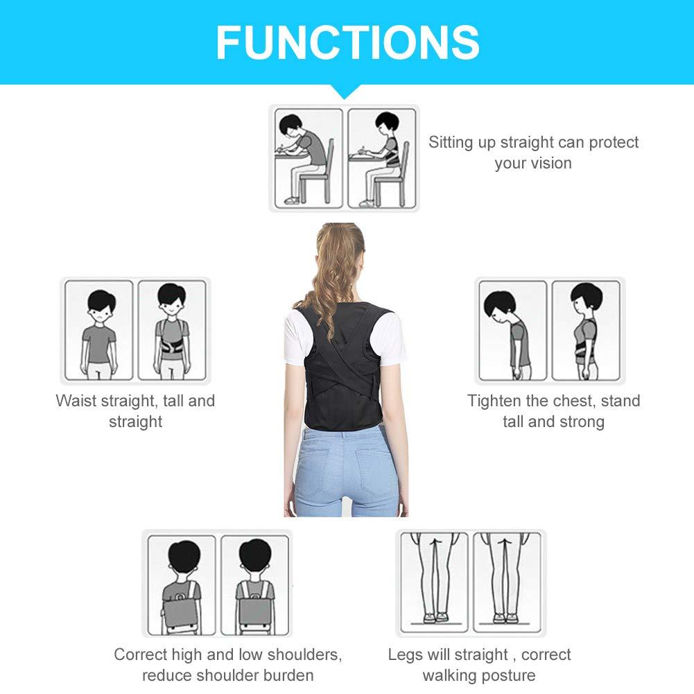 Cintura Regolabile di correzione di postura di sostegno per Spalla lombare di dimensioni di adulto regolabile di bambini Correttore di postura