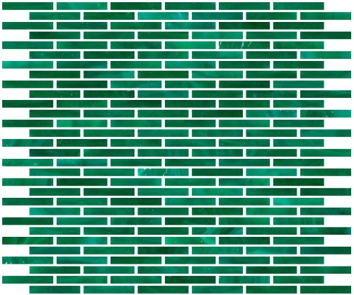 Green Stained Glass Mosaic Tile (Susan Jablon Mosaics - 1/4 Inch Emerald Green Stained Glass Subway Tile)