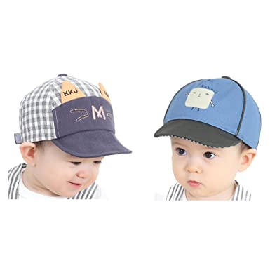 eda53d0f Amazon.com: Baby Boys Baseball Hats Sun Protection Caps for 6-36 Months  Infant Toddler Kids: Clothing