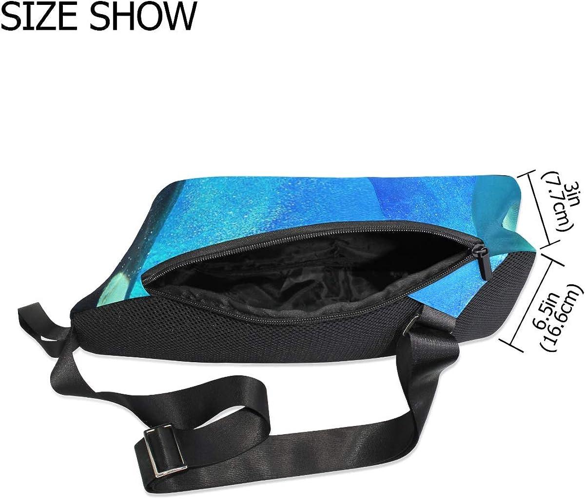 Killer Whale Men Women Durable Satchel Messenger Bags Crossbody Sling Working Bag Travel Shoulder Bags Office//School
