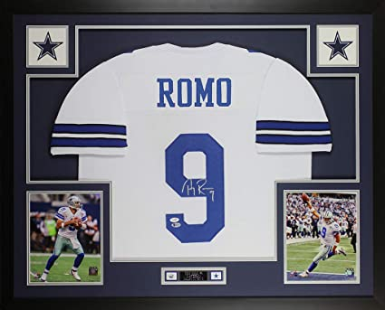 low priced 2d5c7 feac0 Tony Romo Autographed White Dallas Cowboys Jersey ...