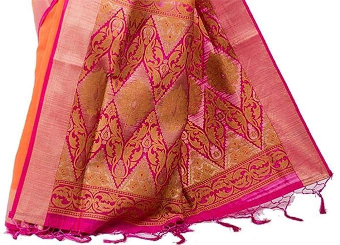 Advika Silk Arni Silk Saree (Krmarketing-S4727_Orange And Pink